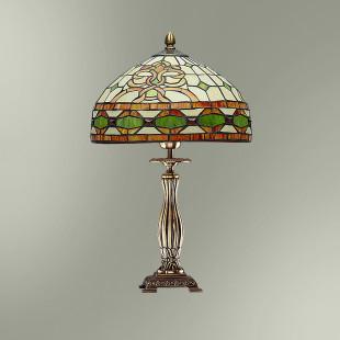 Настольная лампа с абажуром в стиле Тиффани