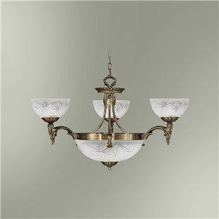 Люстра 3-х рожковая с центральным плафоном на 2 лампы 18255/3+2 БИРМИНГЕМ